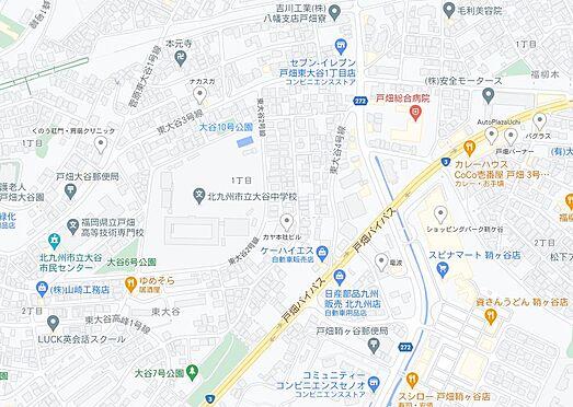 アパート-北九州市戸畑区東大谷1丁目 地図