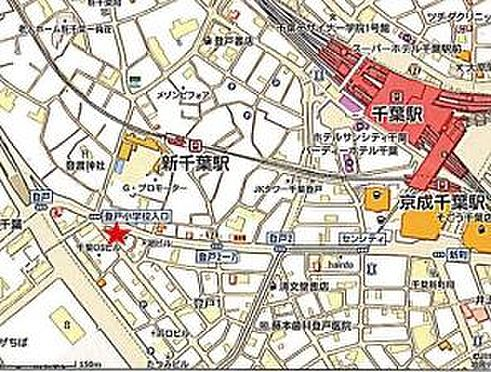 住宅付店舗(建物全部)-千葉市中央区登戸1丁目 地図