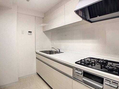 区分マンション-名古屋市西区鳥見町3丁目 収納力の高いシステムキッチンでお料理もはかどります!