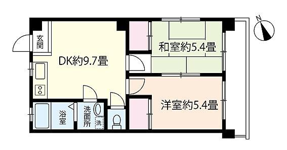 マンション(建物一部)-松戸市新松戸2丁目 2DK。通風・採光・眺望良好です