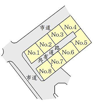 土地-仙台市泉区将監9丁目 区画図