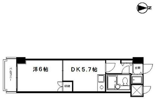区分マンション-京都市中京区松屋町 南向きバルコニー付