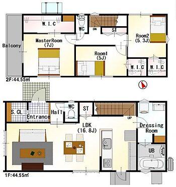 戸建賃貸-名古屋市名東区大針2丁目 <1号棟>家族みんなが気持ちよく過ごすための構造と使いやすい間取りを実現。