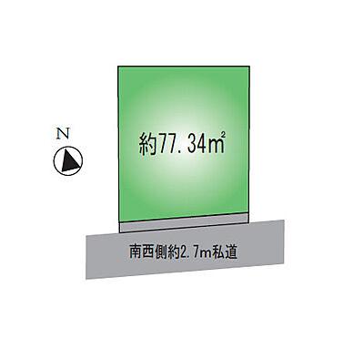 アパート-墨田区墨田2丁目 敷地図