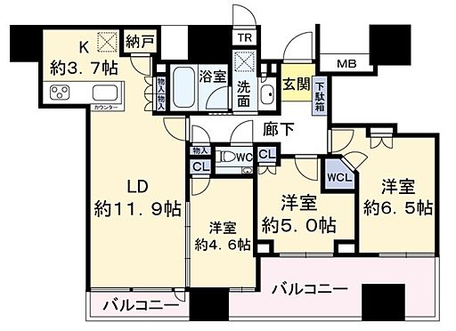 中古マンション-大阪市北区本庄西1丁目 間取り