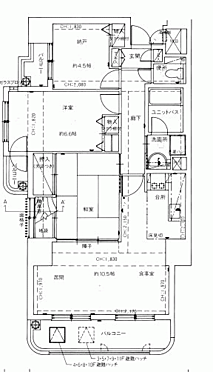 中古マンション-秋田市中通3丁目 間取り
