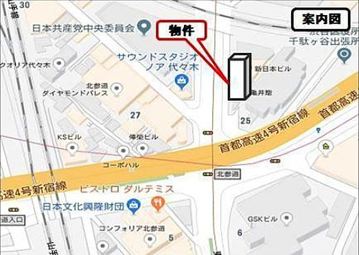 ビル(建物全部)-渋谷区千駄ヶ谷4丁目 案内図