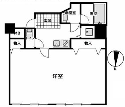 区分マンション-大阪市中央区高津1丁目 間取り