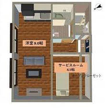 マンション(建物一部)-習志野市津田沼3丁目 間取り