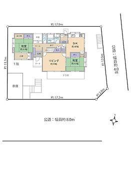戸建賃貸-横須賀市鶴が丘1丁目 南東角地、南庭、土地面積:253.40m2