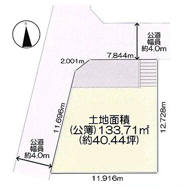 土地-三鷹市井の頭1丁目 区画図
