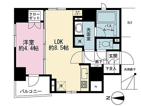 中古マンション-新宿区下落合3丁目 三面日当たり・通気しやすいです