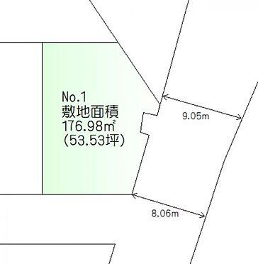 土地-仙台市太白区富田字南ノ西 区画図