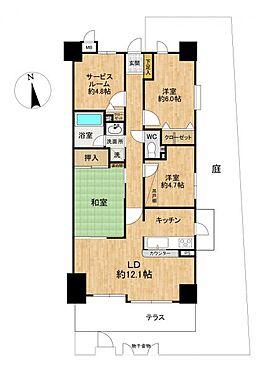 中古マンション-豊田市山之手6丁目 広々庭付き3SLDKのお部屋です。サービスルームには大きな荷物も収納していただけます。