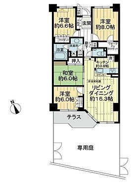 中古マンション-横浜市瀬谷区五貫目町 間取り