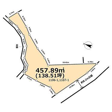 土地-比企郡滑川町大字羽尾 区画図