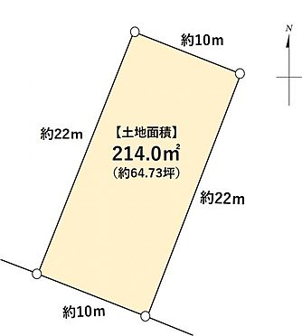 土地-名古屋市昭和区元宮町6丁目 区画図