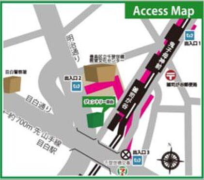 店舗事務所(建物一部)-豊島区雑司が谷3丁目 地図
