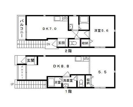 アパート-平塚市錦町 間取り