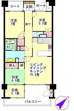 中古マンション-仙台市泉区高森2丁目 間取り