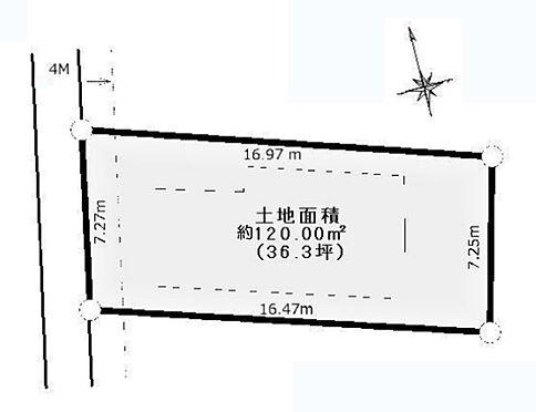 土地-八王子市加住町1丁目 区画図
