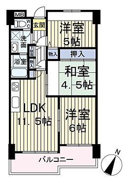 中古マンション-大阪市西淀川区姫島3丁目 間取り