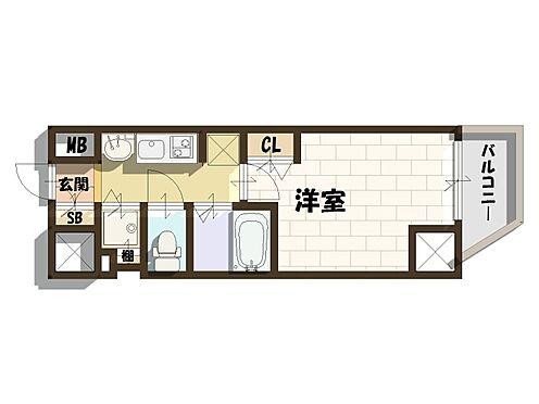 マンション(建物一部)-大阪市中央区南新町2丁目 3点セパレートで使い勝手の良い1K