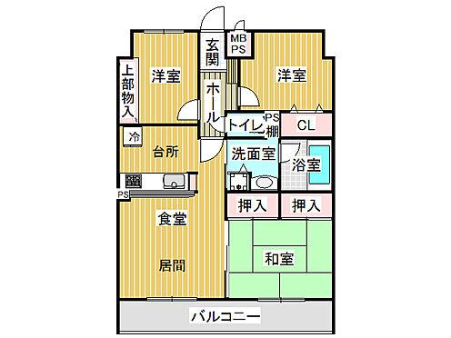 マンション(建物一部)-筑紫野市湯町2丁目 間取り