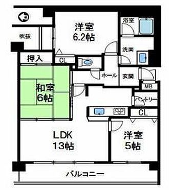 マンション(建物一部)-神戸市北区松が枝町3丁目 間取り