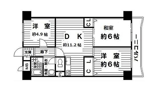 マンション(建物一部)-大阪市城東区成育5丁目 ファミリーにオススメの3LDK