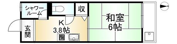 中古マンション-京都市山科区日ノ岡坂脇町 間取り