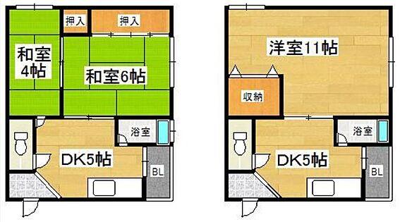 マンション(建物全部)-大阪市住吉区我孫子5丁目 間取り
