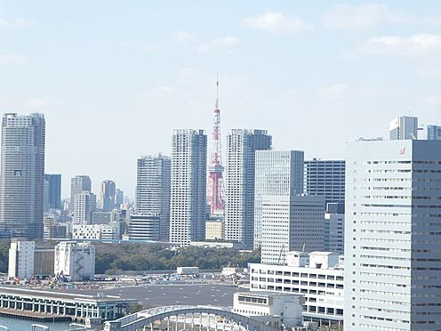 中古マンション-中央区月島1丁目 バルコニーからの眺望。東京タワーを望む