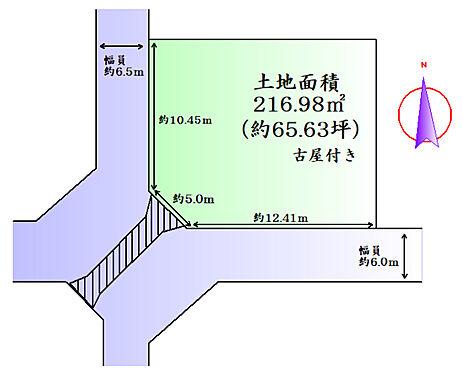 土地-仙台市泉区寺岡4丁目 区画図