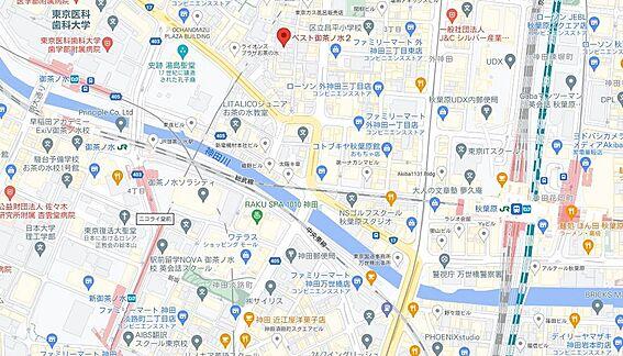 区分マンション-千代田区外神田2丁目 地図