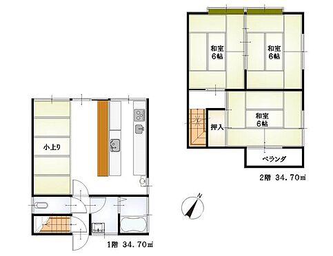 店舗付住宅(建物全部)-入間市東藤沢7丁目 間取り