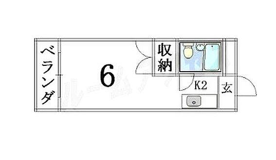 マンション(建物全部)-京都市左京区田中飛鳥井町 間取り