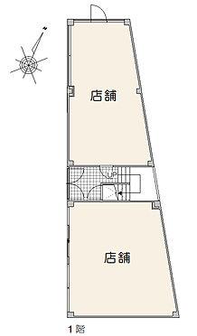 マンション(建物全部)-大田区大森中2丁目 1階平面図 テナント2戸[飲食店(BAR)、塾]