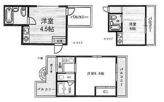 マンション(建物全部)-大阪市東淀川区西淡路3丁目 間取り