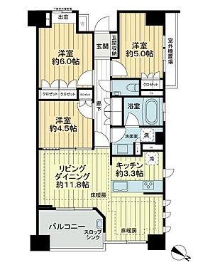 中古マンション-横浜市都筑区葛が谷 間取り
