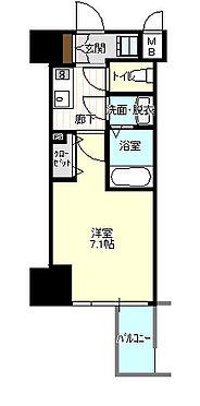 中古マンション-大阪市中央区農人橋2丁目 専有面積23.1?の1Kタイプ