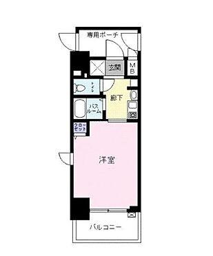 マンション(建物一部)-大阪市中央区南久宝寺町1丁目 広々とした洋室。バストイレ別で清潔感もあり。