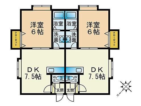 アパート-札幌市南区南沢三条4丁目 間取り