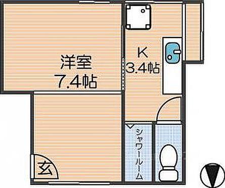 アパート-大阪市西成区松1丁目 間取り