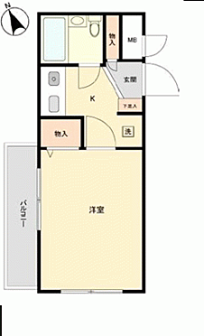 中古マンション-武蔵野市中町3丁目 間取り