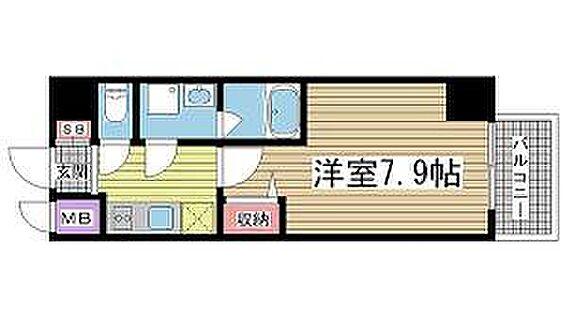 区分マンション-神戸市兵庫区中道通1丁目 間取り