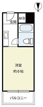 区分マンション-神戸市灘区上河原通3丁目 間取り 1K