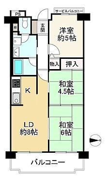 中古マンション-大阪市生野区巽西1丁目 間取り