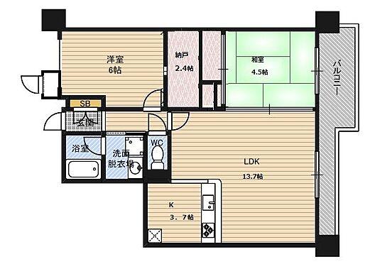 マンション(建物一部)-大阪市都島区御幸町1丁目 ファミリーにオススメの明るい2LDK