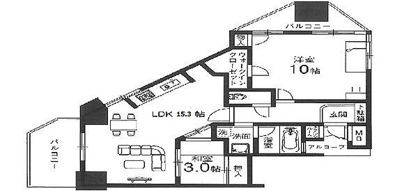 マンション(建物一部)-大阪市鶴見区緑2丁目 お洒落な間取り